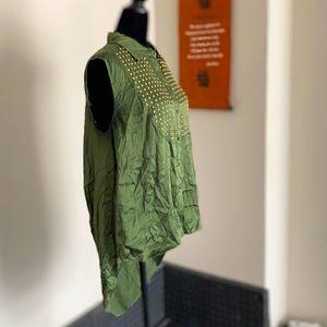 3/$30 | Elizabeth & James | Silk Tunic - M, Green